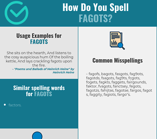 How To Spell Fagot photo 12